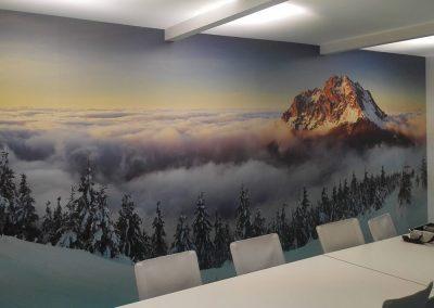 Stampa su adesivo murale applicato a parete